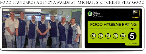 food standards agency award st michaels kitchens very good 2